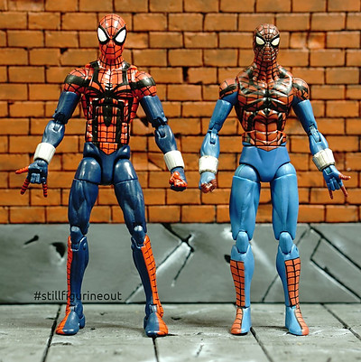 Marvel Legends – Hasbro Ben Reilly Spider-man (Absorbing Man BAF Wave) vs Hasbro Ben Reilly Spider-man (Ares BAF Wave)
