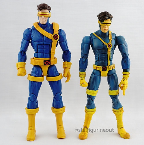 Marvel Legends – Hasbro Warlock BAF Wave Cyclops vs Toybiz X-men Classics Cyclops