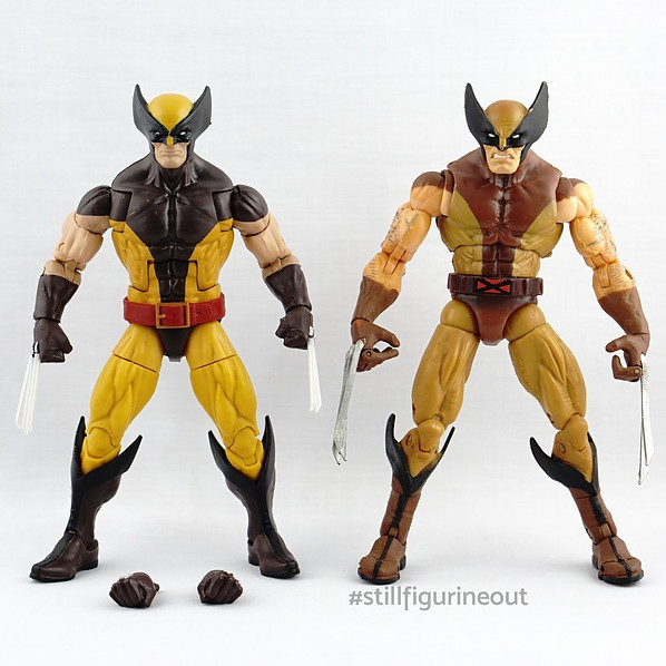 Marvel Legends – Hasbro Juggernaut BAF Wave Wolverine vs Toybiz Series IV Wolverine