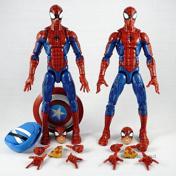 Marvel Legends – Hobgoblin BAF Wave Pizza Spider-man (Authentic vs KO)