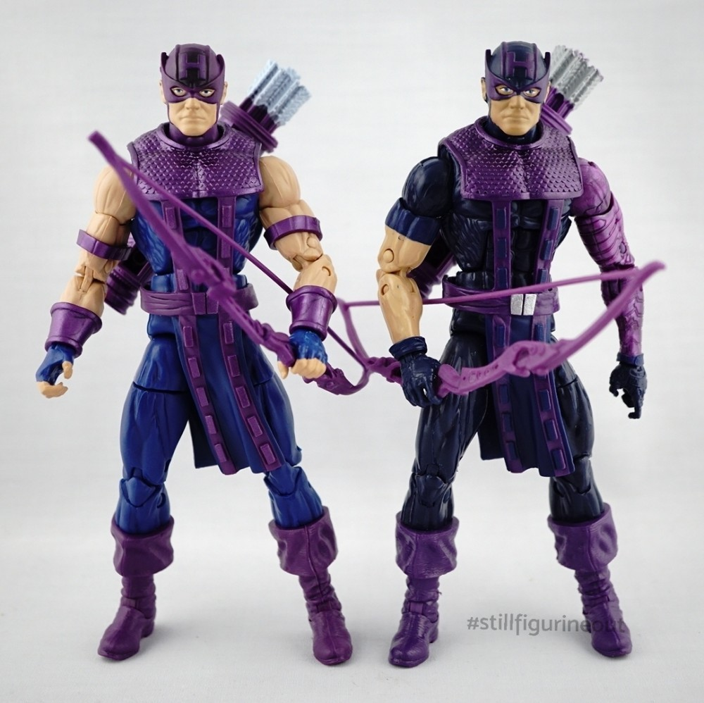 Marvel Legends – Vintage Wave Hawkeye vs Odin BAF Wave Hawkeye