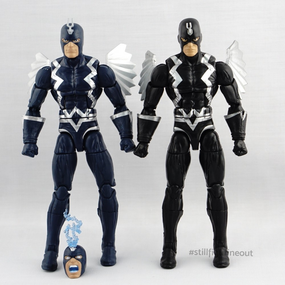 Marvel Legends – Hasbro Blackbolt (Okoye BAF Wave) vs Hasbro Blackbolt (SDCC Thanos Imperative Boxset)