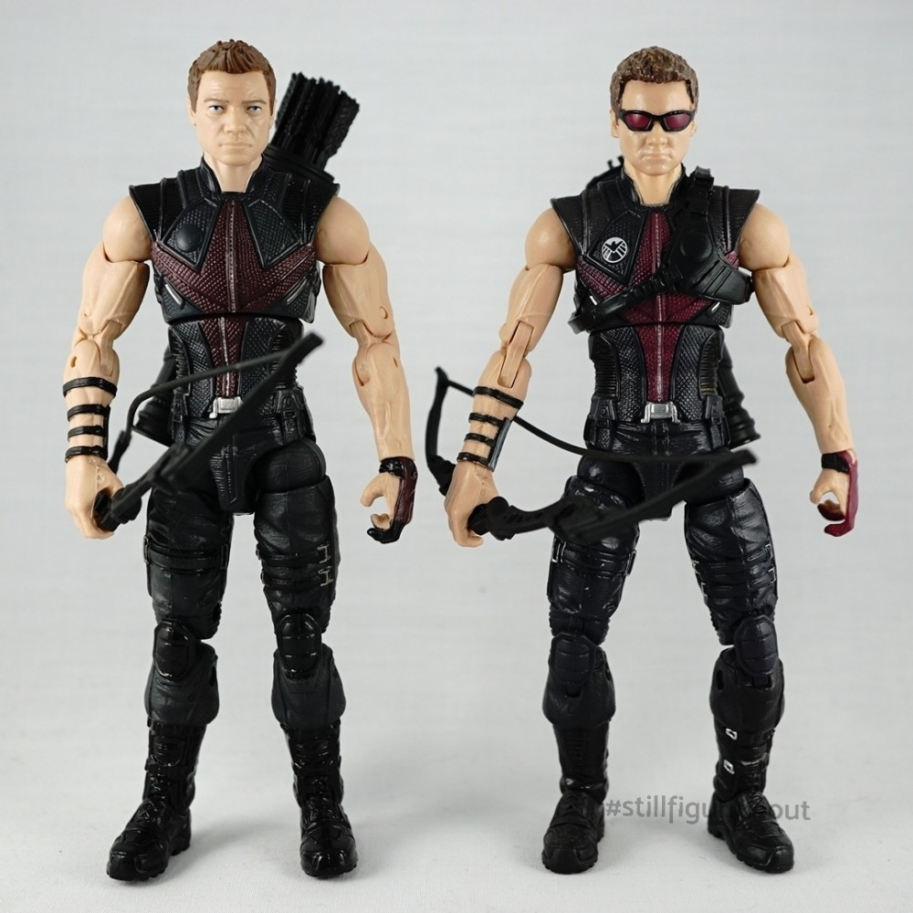 Marvel Legends – Hawkeye (Age of Ultron Amazon Exclusive 4-pack) vs Hawkeye (Walmart Exclusive)