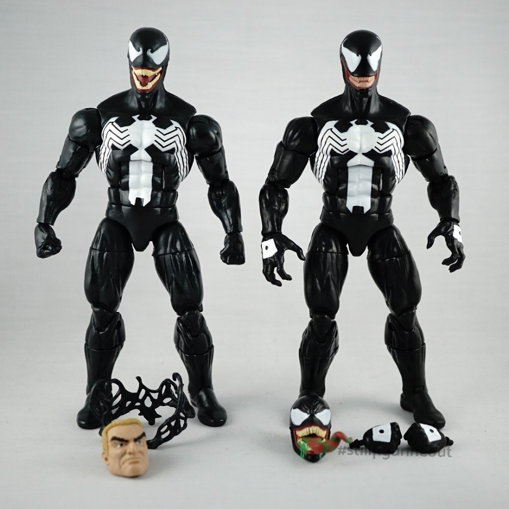 Marvel Legends – Venom (Monster Venom BAF Wave) vs Venom (Absorbing Man BAF Wave)
