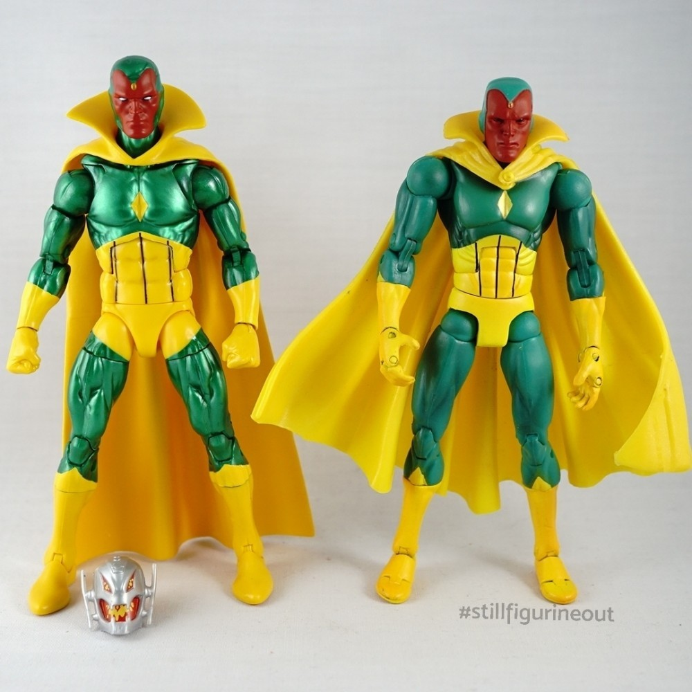 Marvel Legends – Vision (Hasbro Vintage Wave) vs Vision (Toybiz Series VII)