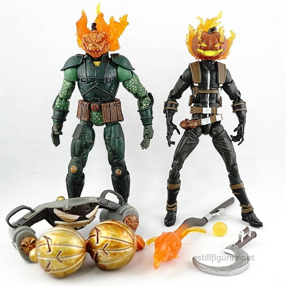 Marvel Legends – Toybiz Mad Jack (Spider-man Classics) vs Hasbro Jack O'Lantern (Absorbing Man BAF Wave)