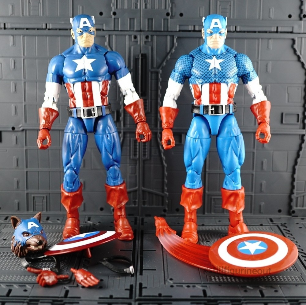 Marvel Legends – Captain America (Onslaught BAF Wave) vs Captain America (Vintage Wave)