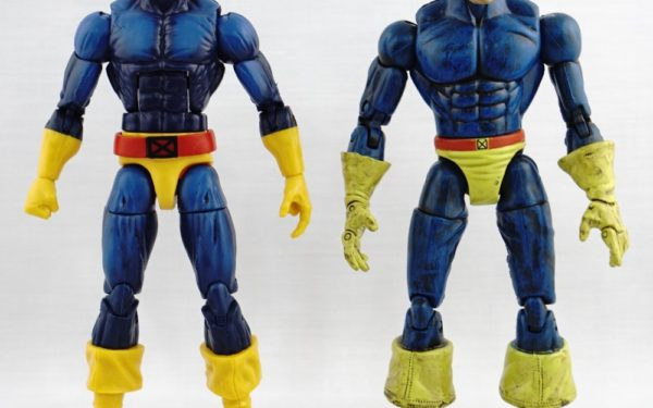 Marvel Legends – Hasbro Cyclops (2-pack with Dark Phoenix TRU Exclusive) vs Toybiz Cyclops (Sentinel BAF Wave)