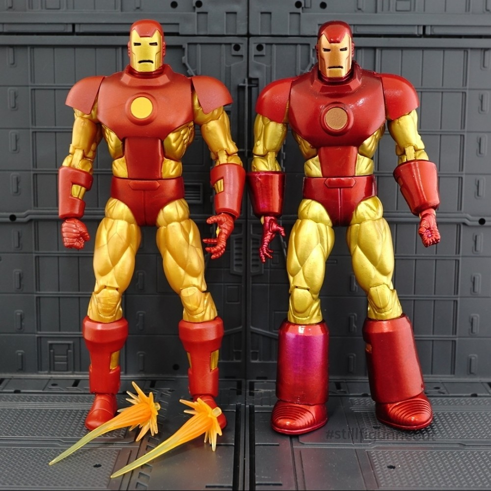 Marvel Legends – Iron Man (Vintage Wave) vs Iron Man (Epic Heroes Wave)