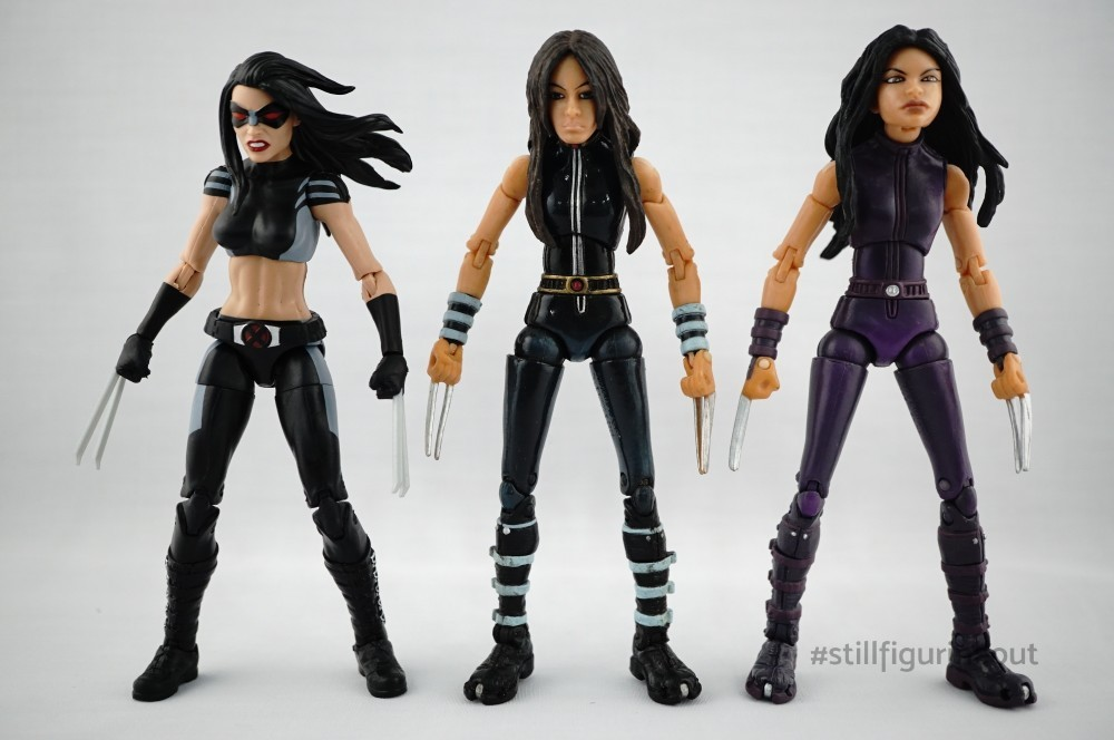 Marvel Legends – Hasbro X-23 (Sasquatch BAF Wave) vs Toybiz X-23 Variants (Apocalypse BAF Wave)