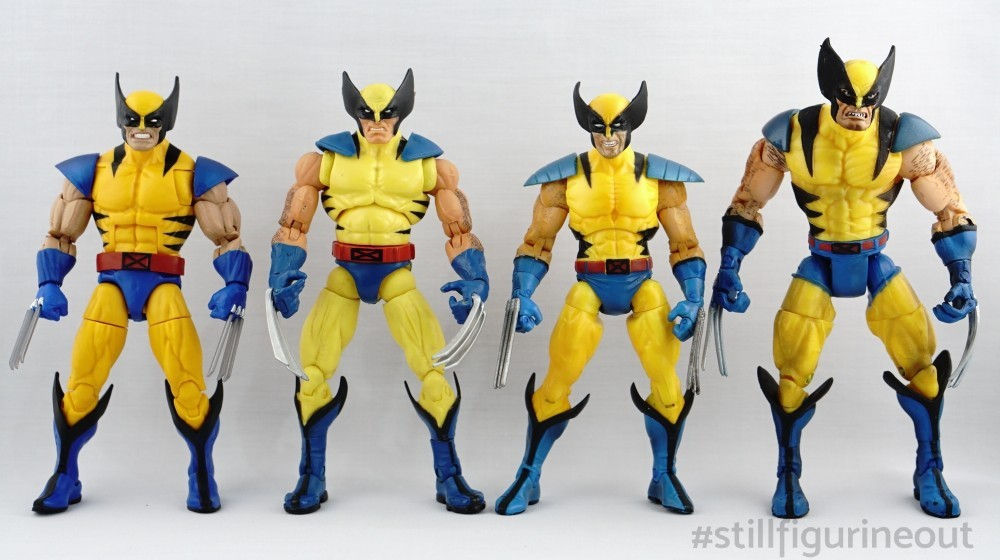 Marvel Legends - Wolverine (Hasbro Apocalypse BAF Wave, Hasbro Red Hulk BAF Wave, Toybiz X-men Classics, Toybiz Series III)
