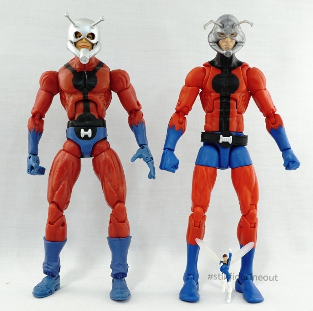 Marvel Legends – Toybiz Ant-man (Giant Man BAF Wave) vs Hasbro Ant-man (Vintage Wave 2)