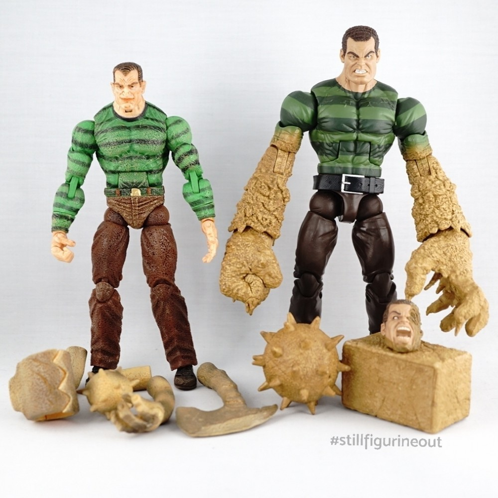 Marvel Legends – Toybiz Sandman (Spider-man Classics Series 12) vs Hasbro Sandman (BAF)