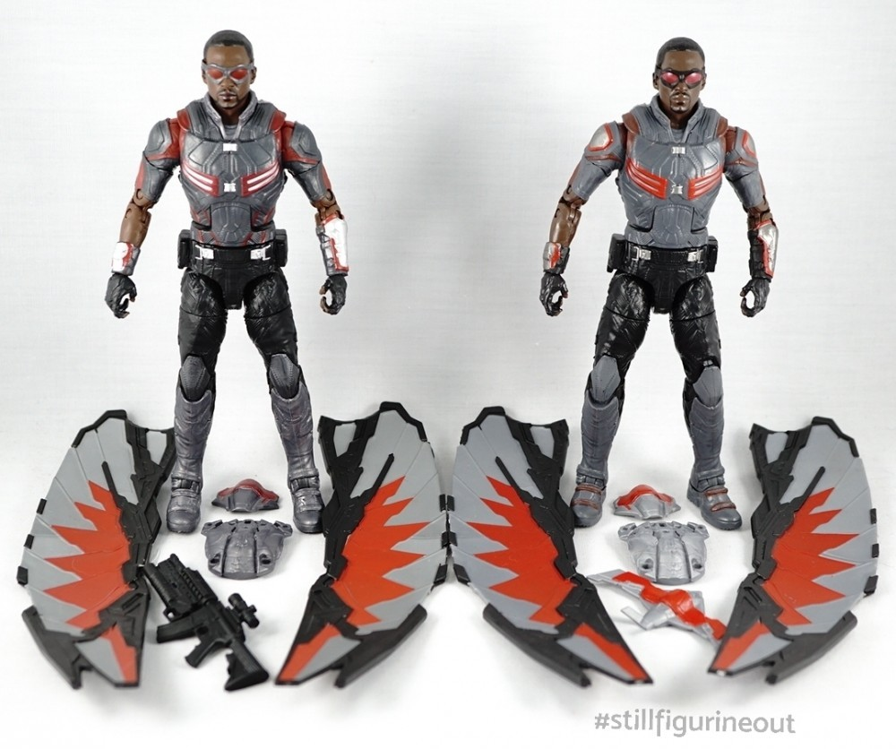 Marvel Legends – Hasbro Falcon (2-pack with Winter Soldier) vs Hasbro Falcon (Walmart Exclusive)