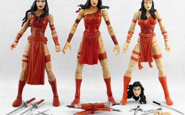 Marvel Legends – Hasbro Elektra (SP//DR BAF Wave) vs Toybiz Elektra (Series 4) vs Hasbro Elektra (2-pack)