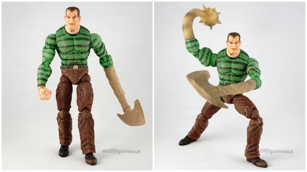 Marvel Legends - Toybiz Sandman (Spider-man Classics Series 12) vs Hasbro Sandman (BAF)