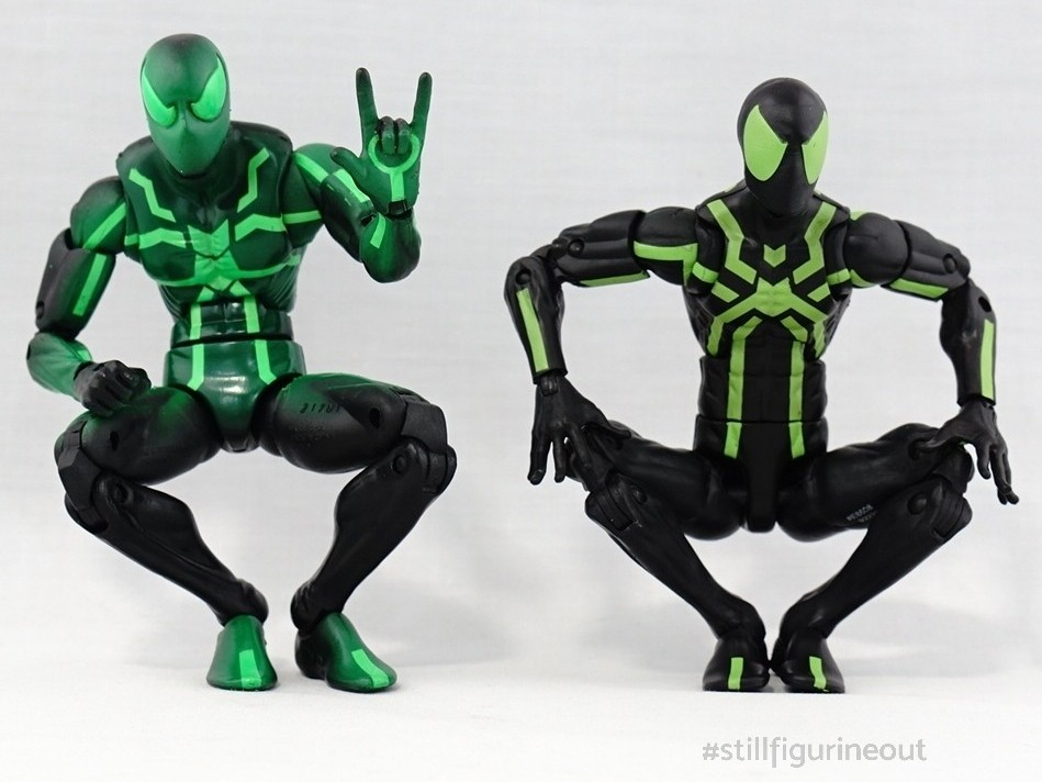 Marvel Legends - Big Time Spider-man (Rocket Racoon BAF Wave) vs Big Time Spider-man (80th Anniversary)