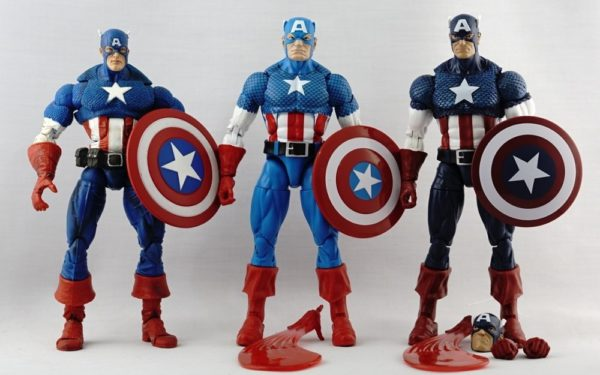 Marvel Legends – Toybiz Captain America (Face-off 2-pack) vs Hasbro Captain America (Vintage Wave 1) vs Hasbro Captain America (80th Anniversary)