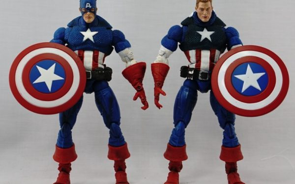 Marvel Legends – Toybiz Captain America Masked and Unmasked variants (Face-off 2-pack)