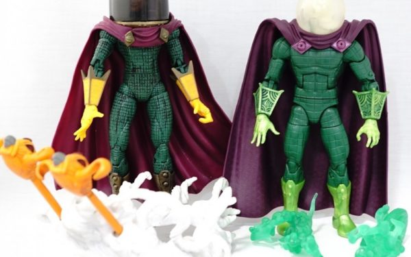 Marvel Legends – Toybiz Mysterio (Spider-man Classics Series 13) vs Hasbro Mysterio (Lizard BAF Wave)