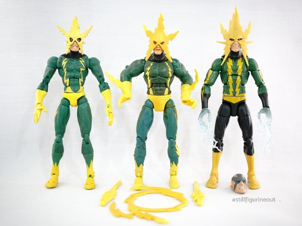 Marvel Legends - Toybiz Electro (Sinister 6 Boxset) vs Toybiz Electro (Spider-man Classics Series 19) vs Hasbro Electro (Space Venom BAF Wave)