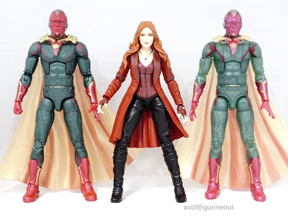 Marvel Legends - MCU Vision (2-pack with MCU Scarlet Witch) vs MCU Vision (Fat Thor BAF Wave)