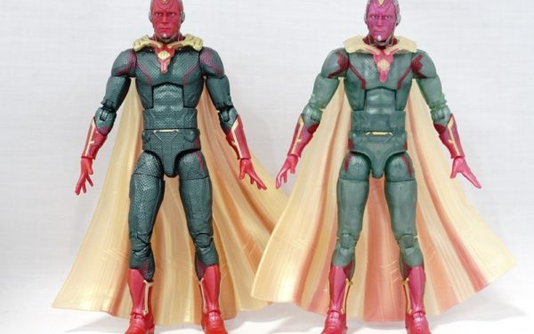 Marvel Legends – MCU Vision (2-pack with MCU Scarlet Witch) vs MCU Vision (Fat Thor BAF Wave)