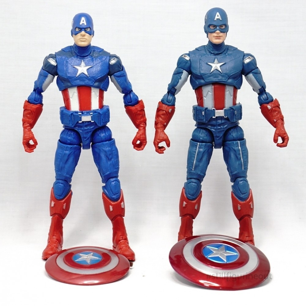 Marvel Legends – Captain America ('Best of' Hulkbuster BAF Wave) vs Captain America (Fat Thor BAF Wave)