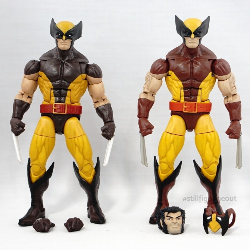 Marvel Legends – Wolverine (Juggernaut BAF Wave) vs Wolverine (Vintage Wave 1)