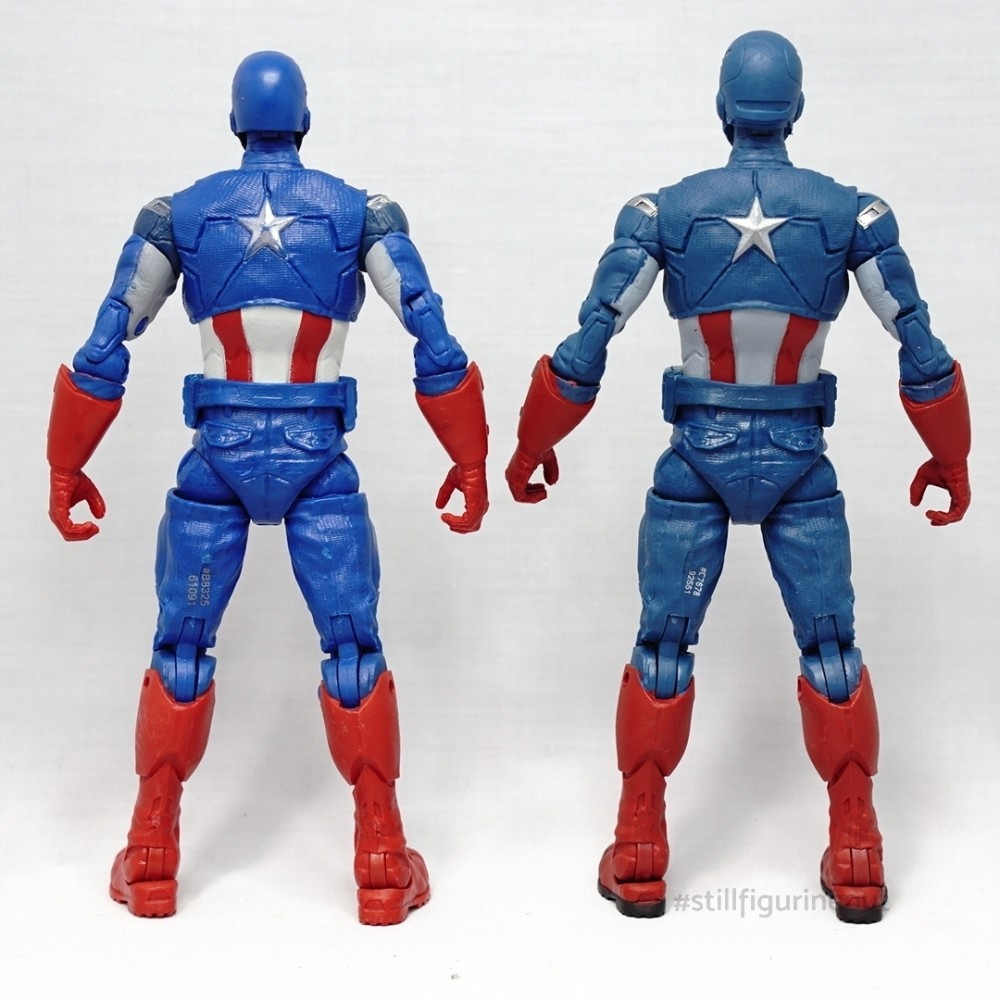 Marvel Legends - Captain America ('Best of' Hulkbuster BAF Wave) vs Captain America (Fat Thor BAF Wave)