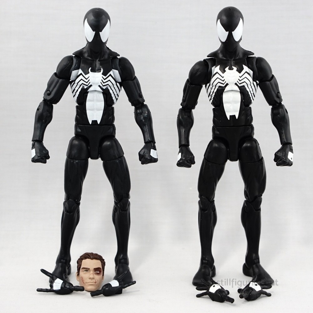 Marvel Legends – Black Costume Spider-man (2-pack with Kraven) vs Black Costume Spider-man (Sandman BAF Wave)