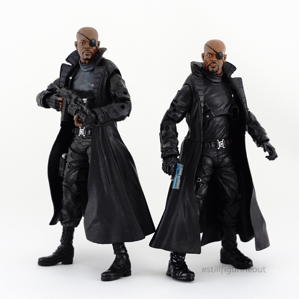 Marvel Legends - Nick Fury (Walmart Exclusive) vs MCU Nick Fury (S.H.I.E.L.D. 3-pack)