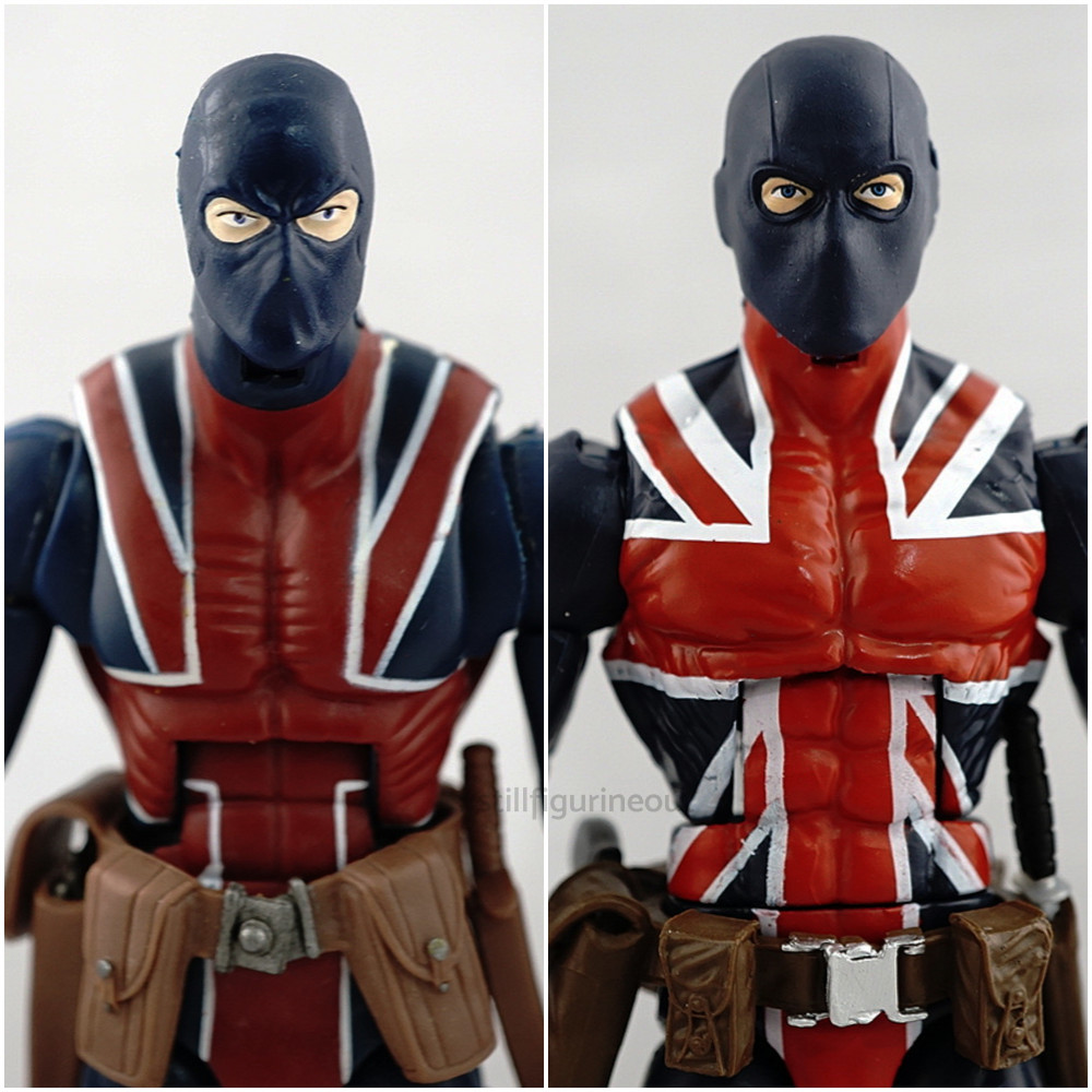 Marvel Legends - Union Jack (Red Hulk BAF Wave) vs Union Jack (Smart Hulk BAF Wave)