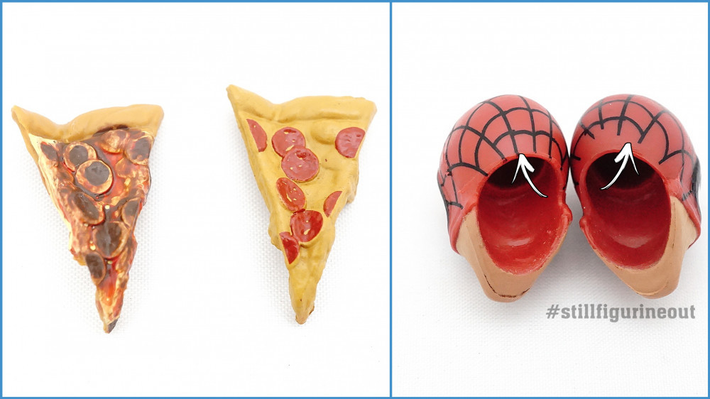 Authentic vs KO/Bootleg Marvel Legends Retro Wave Pizza Spider-man (How to tell them apart)